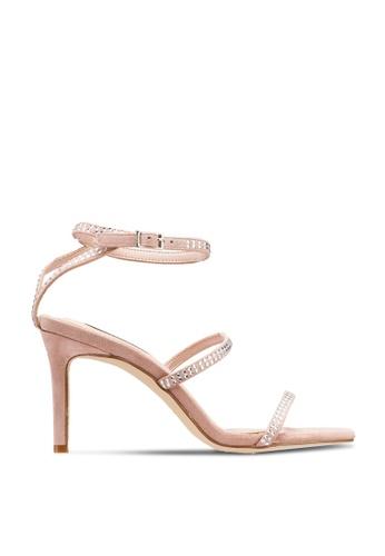 nose beige Diamondate Heel Sandals 0EA2ESH5C12FC4GS_1