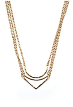 Layered Linear Charm Necklace