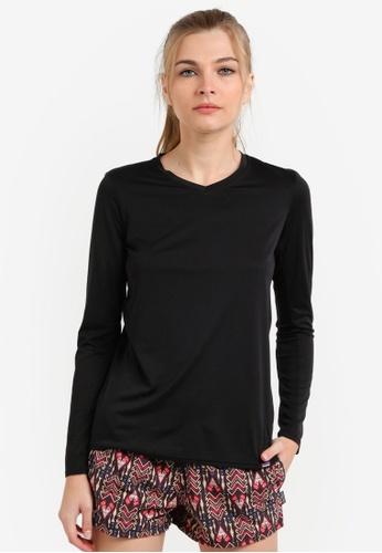 Patagonia black Cap Daily Long Sleeve T-Shirt PA549AA0RQE4MY_1