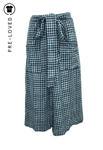 Reformation blue Pre-Loved reformation Checked Wrapped Midi Skirt 8CA6EAAC74B991GS_1