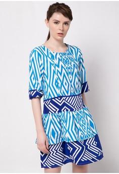 Claire Print Peasant Dress