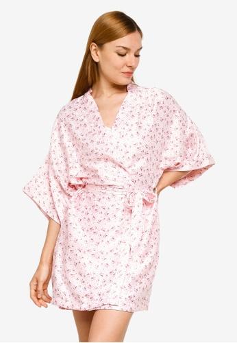 Cotton On Body pink Satin Robe C0699AA6BB87FDGS_1