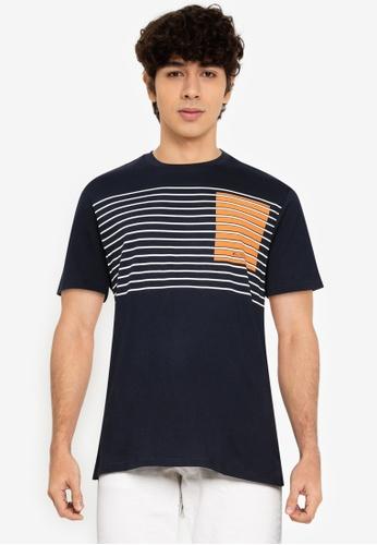 Ben Sherman black Colour Block Stripe Tee 6E8EAAA83EF173GS_1