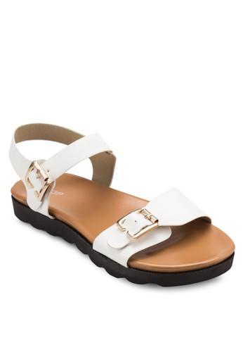 雙扣環繞esprit官網踝涼鞋, 女鞋, 涼鞋