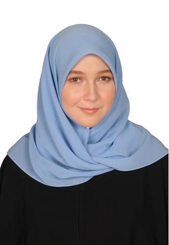 Bait Al Hijaab blue SQUARE SCARF IZDIHAR DF3D8AA7DFA3F5GS_1