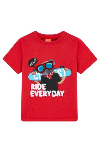 KOTON red Short Sleeve T-Shirt 2BABBKAD722632GS_1