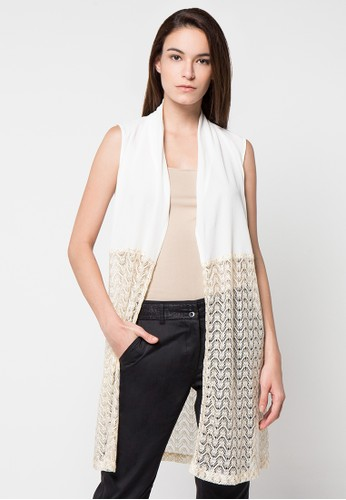 WHITEMODE white Fiona Vest WH193AA73HOOID_1