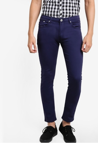 Fidelio navy 3060 Skinny Fitted Chinos Pants FI826AA27CMMMY_1