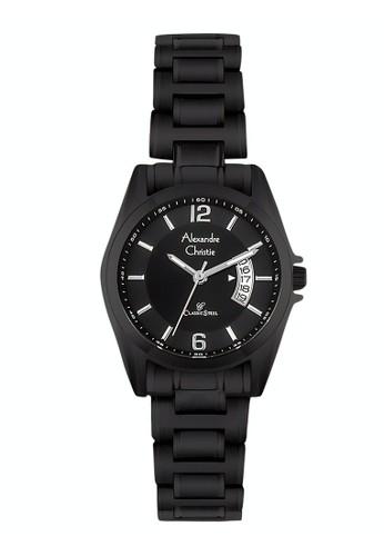 Alexandre Christie black Alexandre Christie Jam Tangan Wanita - Black - Stainless Steel - 8289 LDBIPBA 94E44ACAE6B36CGS_1
