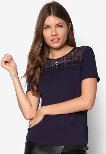 蕾絲拼肩T 恤, 服飾, 上zalora時尚購物網評價衣