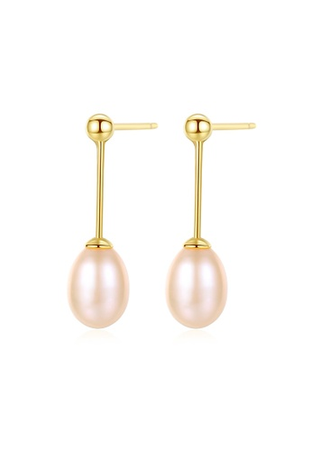 A.Excellence pink Premium Pink Pearl Elegant Earring 9BA2CACCA5965FGS_1