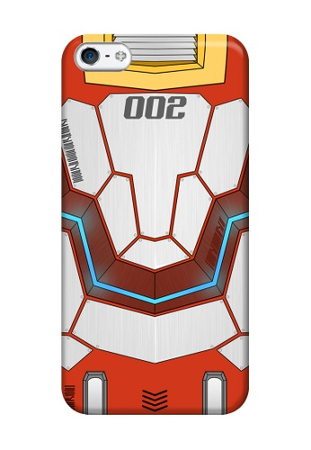 Wonder Cover red Mecha JD002 Glossy Hard Case for iPhone 5, 5s WO617AC18EFHPH_1