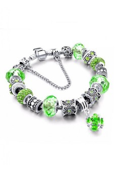 Murano Studded Crystal Charm Bracelet by ZUMQA