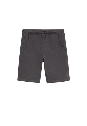MANGO KIDS grey Organic Cotton Jogging Bermuda Shorts 3451DKA9A1C9F8GS_1