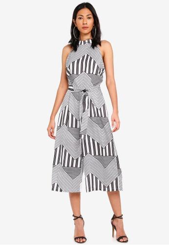 Glamorous black Geometric Print Culotte Jumpsuit 6832DAA61871F5GS_1