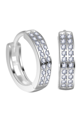 SC Tom Silver silver Round Clip Stone Earrings-ESL056 SC872AC42EFDPH_1