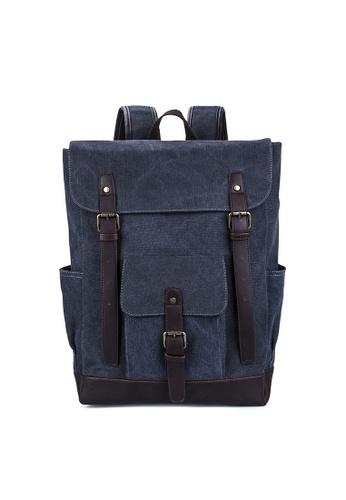 Lara grey Belt Buckle Flap Backpack BA4F5ACB0BDBB2GS_1