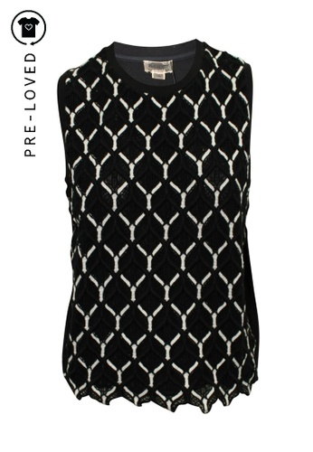 Giambattista Valli black Pre-Loved giambattista valli Lace Black and White Vest E1394AA3027F49GS_1