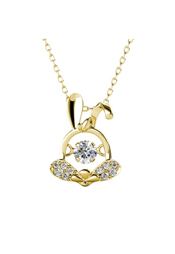 Her Jewellery gold 12 Dancing Zodiac Pendant (Rabbit) YG - Made with premium grade crystals from Austria B79E2AC63BEAF0GS_1