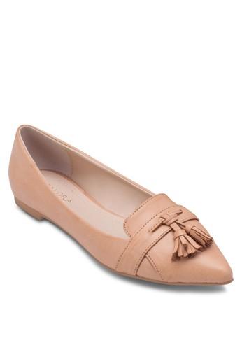 流蘇尖頭平底鞋,zalora 心得 女鞋, 船型鞋