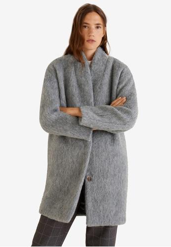 Mango grey Unstructured Oversize Coat E9A68AA1682BADGS_1
