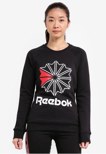 Reebok black F Starcrest Crewneck RE691AA0SWZ4MY_1