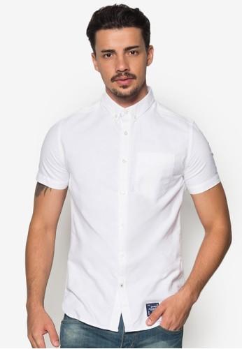 esprit 工作簡約牛津短袖襯衫, 服飾, 服飾