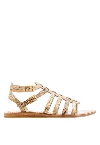 Les Tropeziennes Par M. Belarbi gold Baille Gold Multi Strap Leather Sandals AB983SHEFE4FE0GS_1