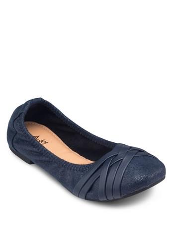 編織方頭平底esprit tw鞋, 女鞋, 鞋