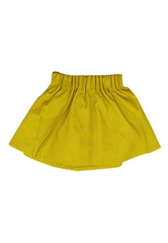 GLOBAL WORK yellow Casual Mini Skirt B8F2BKA12AF322GS_1