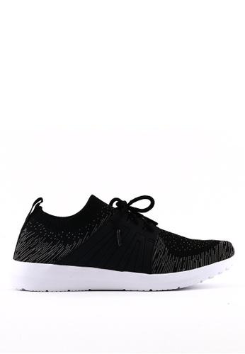 World Balance black Weave Flex MS Sneakers WO444SH0KSDOPH_1