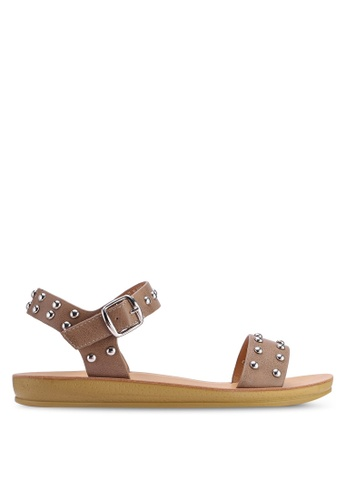 NOVENI brown Stud Sandals C84E8SHC59182CGS_1