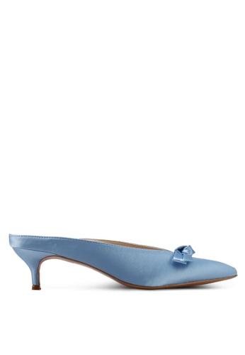 Velvet blue Mini Bow Low Heels 0BDFASH57191D3GS_1