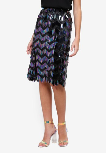 bYSI black Holographic Zig Zag Skirt 2CD93AAB8CB8E3GS_1