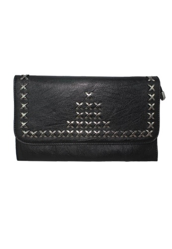 midzone black TYON Women Leather Clutches MI949AC15KGAMY_1