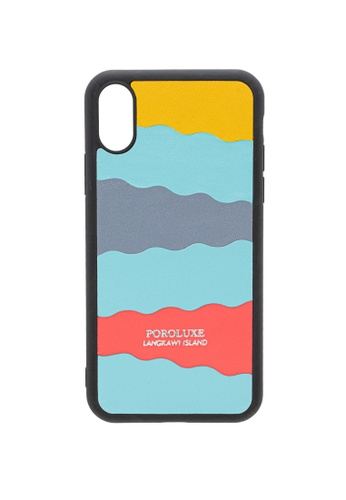 POROLUXE blue PHONE CASE FOR IPHONE X 7509EAC73D9AD3GS_1