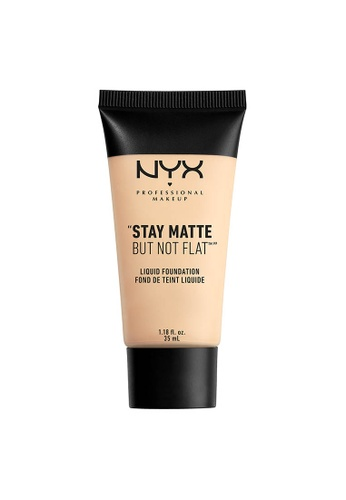 NYX Professional Makeup beige NYX Professional Makeup Stay Matte But Not Flat Liquid Foundation - ALABASTER 9F0EFBEC84F9DDGS_1