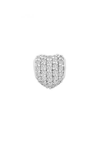 JEOEL white JEOEL Small Heart Pave Bead (White) 6AA4DAC719CCF4GS_1