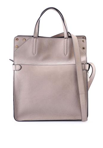 Fendi grey Flip Regular Shoulder Bag (zt) A67D6ACEF7DD71GS_1