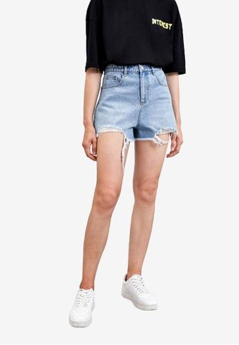 URBAN REVIVO blue Denim Shorts 187FFAA338703DGS_1