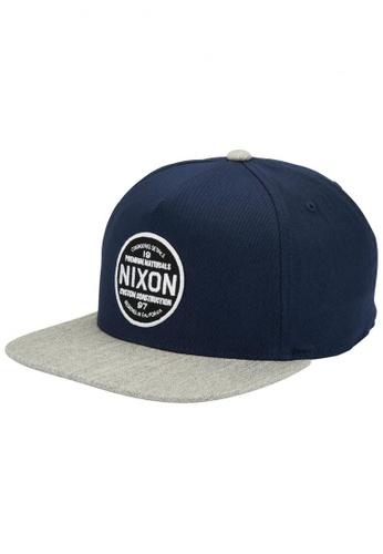 Nixon blue Nixon - Lazaro 110 Snapback Navy NI855AC57EJESG_1