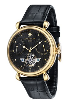 Thomas Earnshaw Grand Calendar Es-8046-08 Men's Genuine Leather Strap Watch