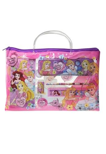 DISNEY Princess Disney Princess Kindness Stationery Set With Transparent Document Bag AD920KC26F1AFBGS_1