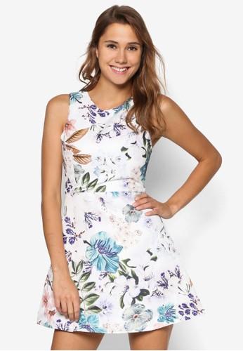 Lovell 花卉印花傘擺洋裝、 服飾、 洋裝MDSCollectionsLovell花卉印花傘擺洋裝最新折價