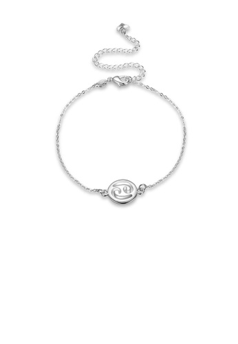 Glamorousky silver Fashion Simple Cancer Anklet 9735FACC520AEDGS_1