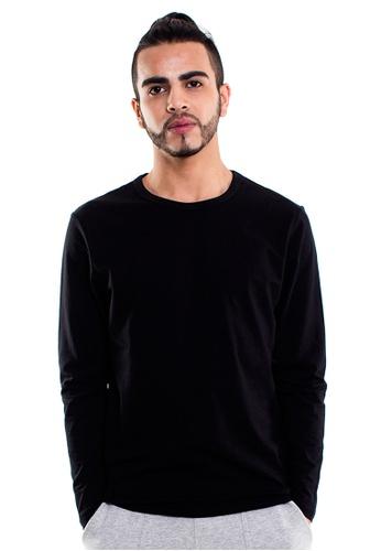 Reoparudo 黑色 兩件裝 RPD 品牌純色長袖T恤(黑色) 94CFDAA7F24C1AGS_1