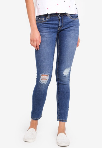 Superdry blue Cassie Skinny Jeans 20A1FAA8AED437GS_1