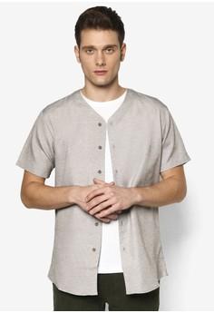 棒球V 領短袖襯衫