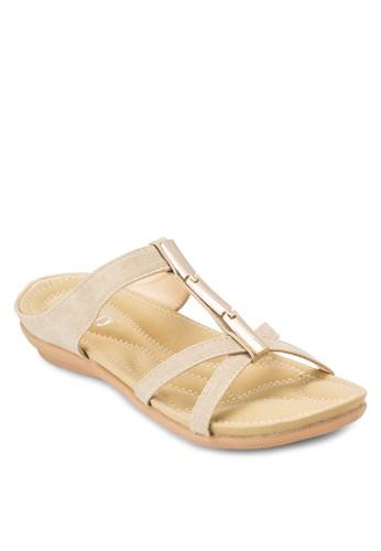 金飾休esprit holdings閒涼鞋, 女鞋, 鞋