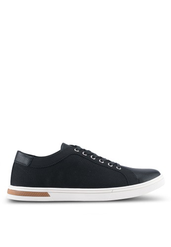 ZALORA black Mix Material Sneakers 26A6CSHF6F12A8GS_1